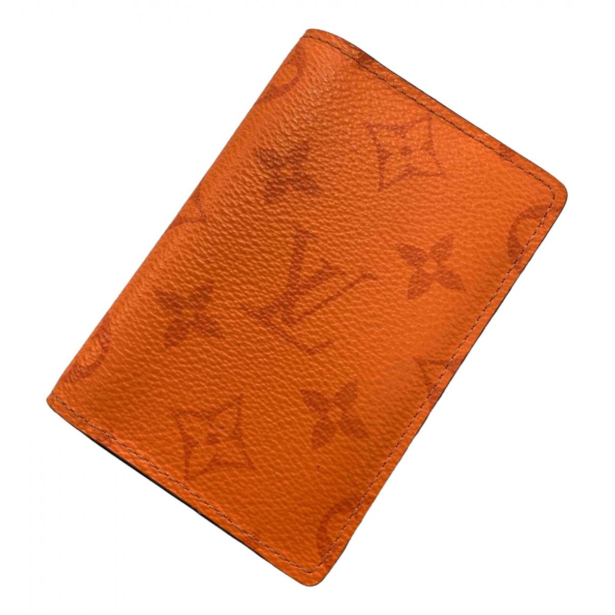 Louis Vuitton Pocket Organizer Orange Leather Small bag, wallet & cases for Men \N