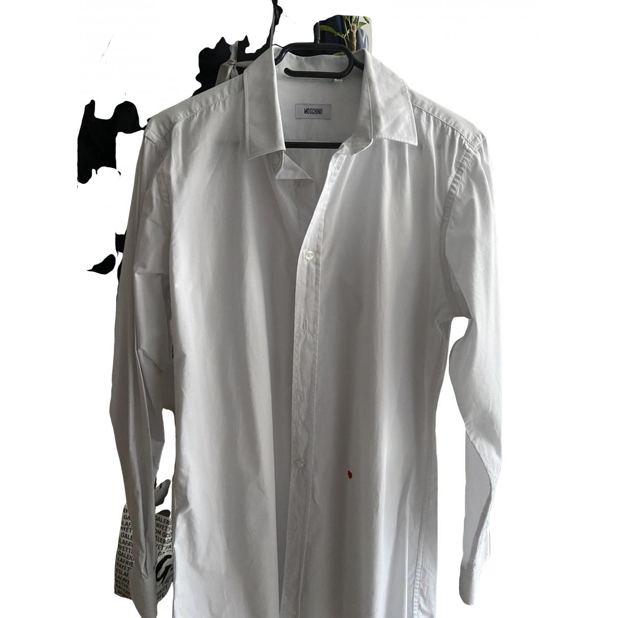 Moschino - Chemises   pour homme en coton - blanc