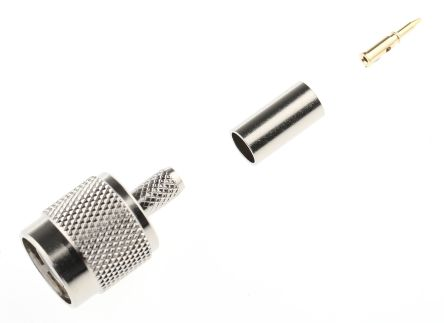 RS PRO Straight 50Ω Cable Mount Coaxial Connector, Plug, Crimp Termination, RG58 (100)