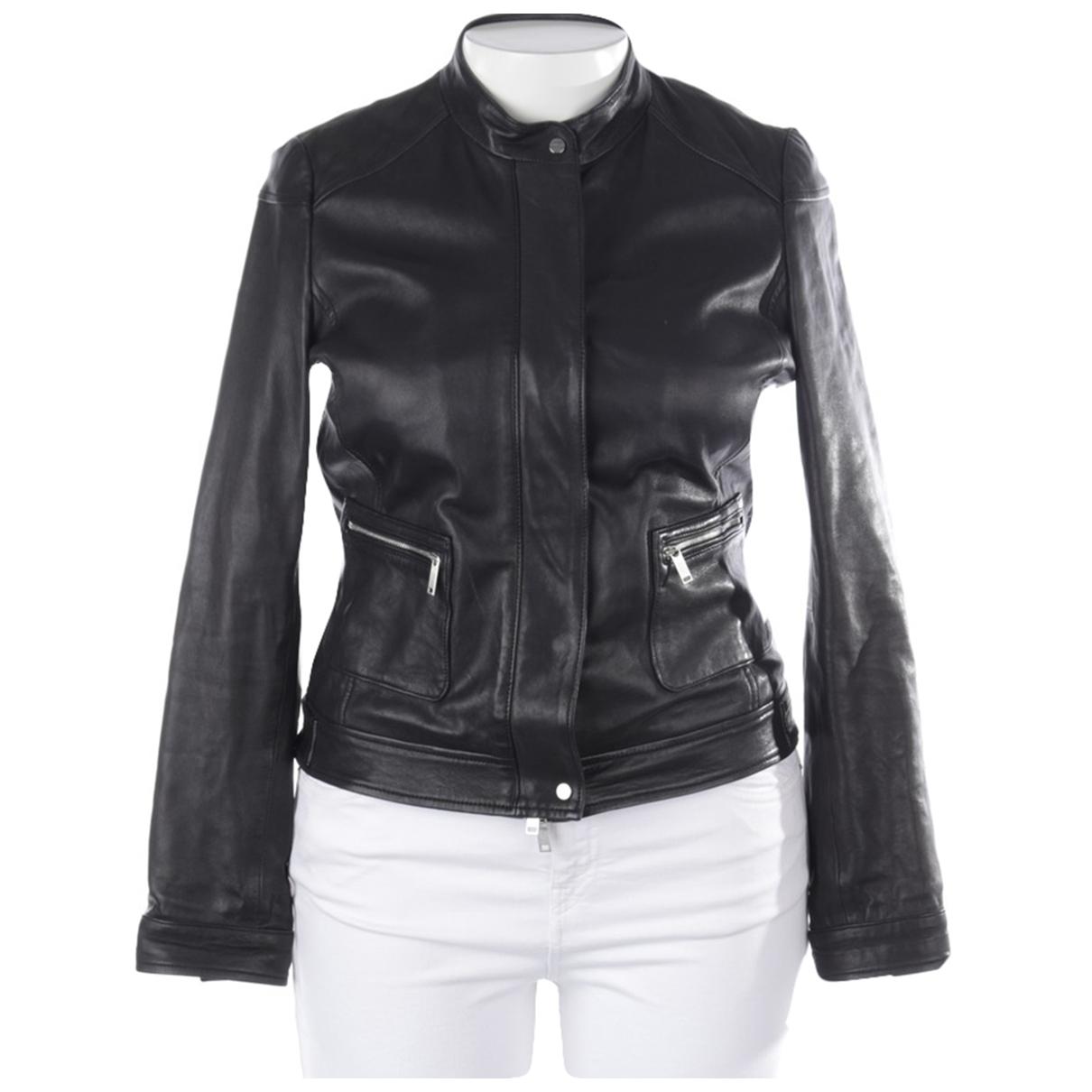 Autre Marque \N Black Leather jacket for Women 40 FR