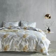 Bettwaesche Set mit Blatt Muster ohne Fuellstoff