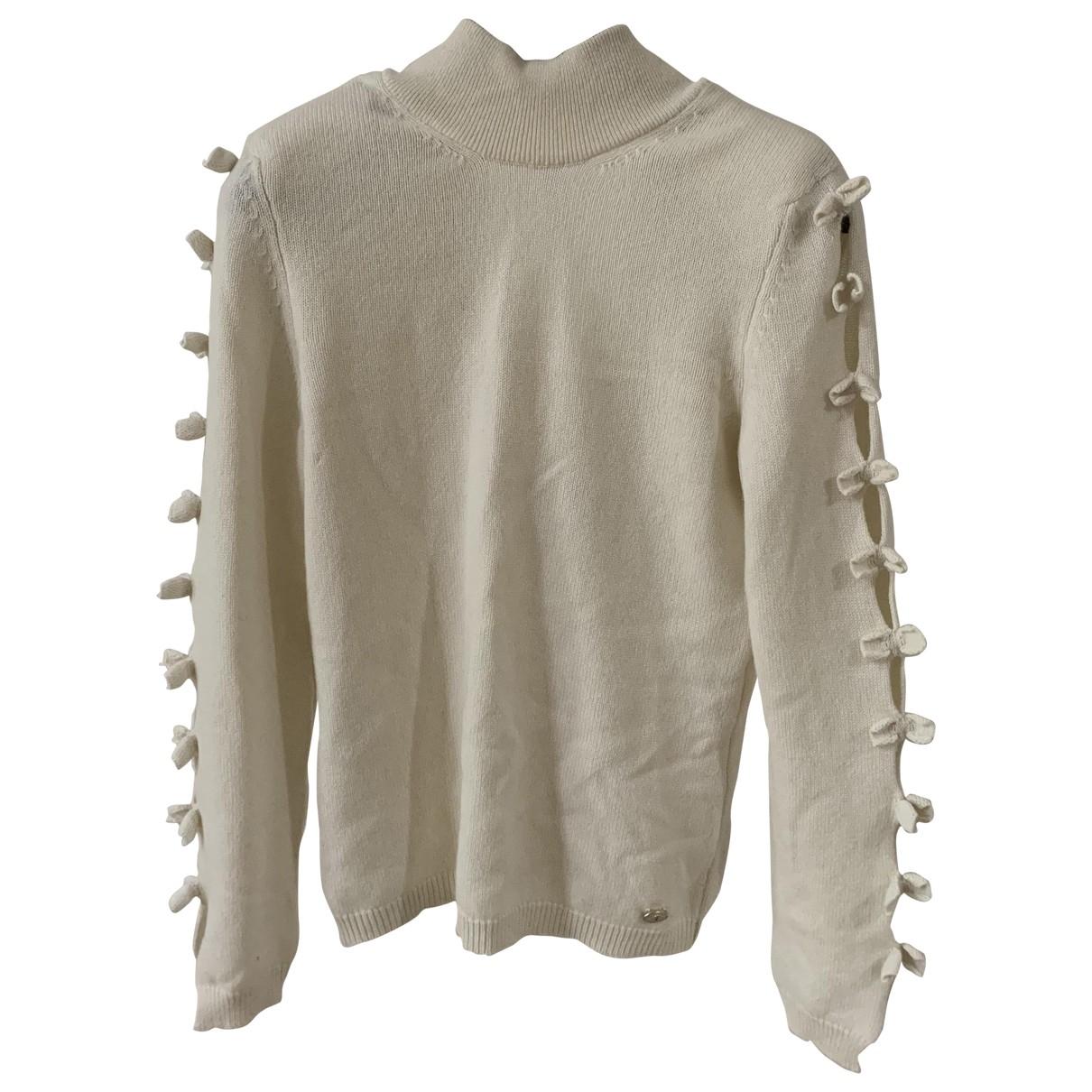 Chanel \N Pullover in  Weiss Kaschmir