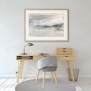 SIMPLE CIRCLES Office Mat By Kavka Designs (Grey)