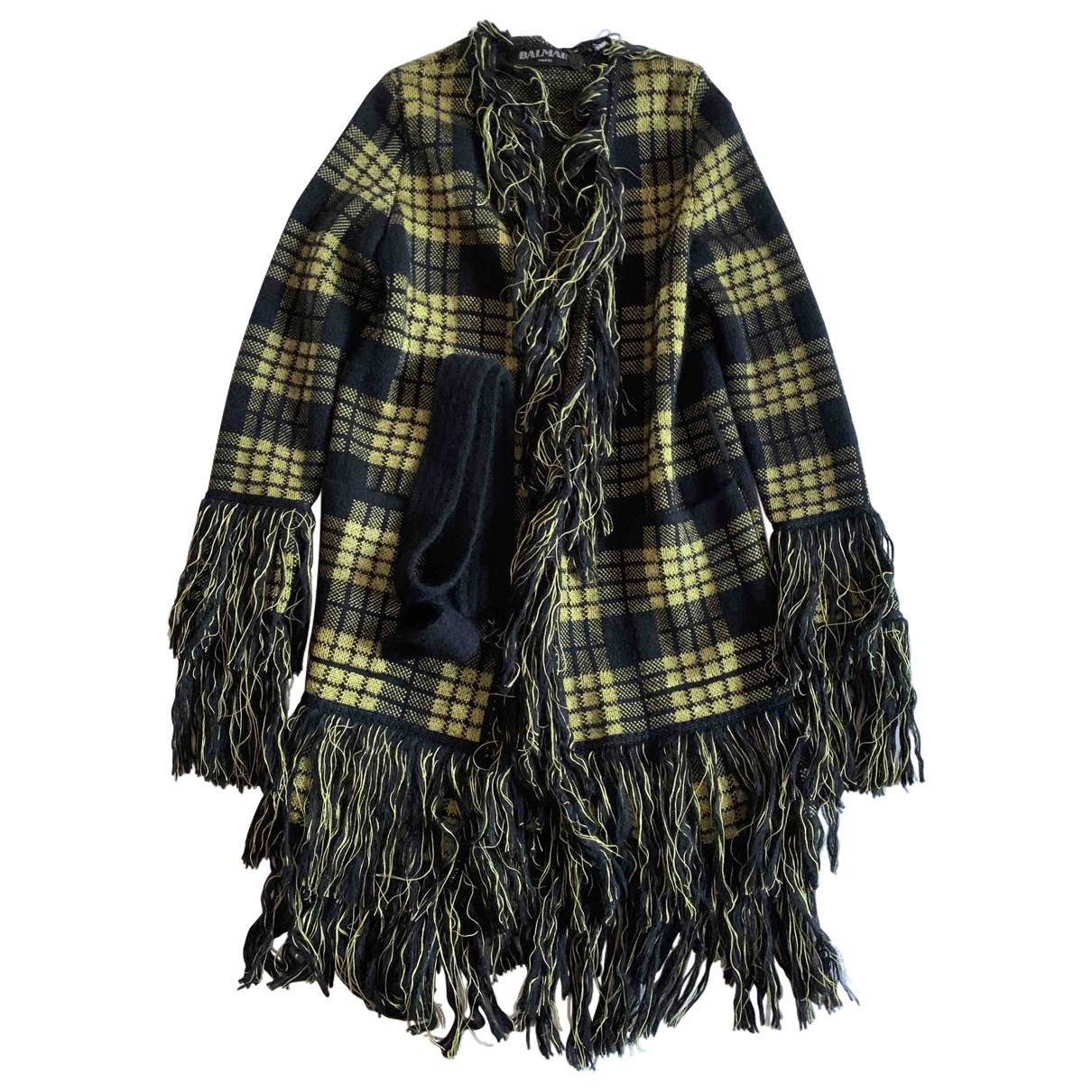 Balmain - Manteau   pour femme en laine - multicolore