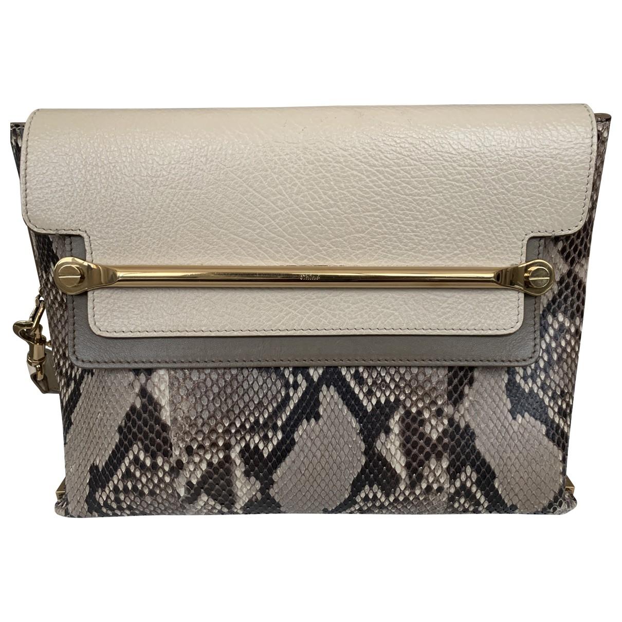 Chloé Clare Beige Python handbag for Women \N