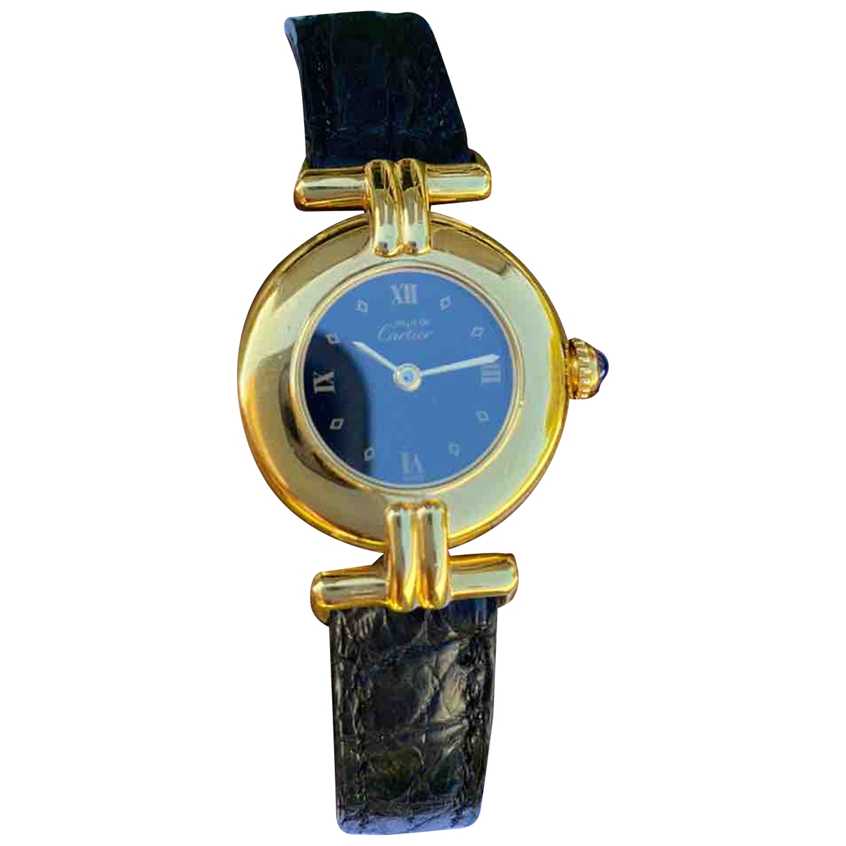 Cartier Must 21 Uhr in  Gold Vermeil