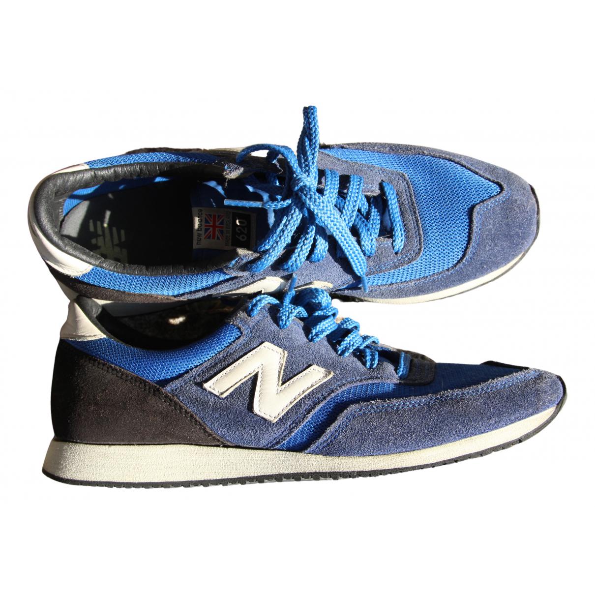 New Balance - Baskets   pour homme en cuir - bleu