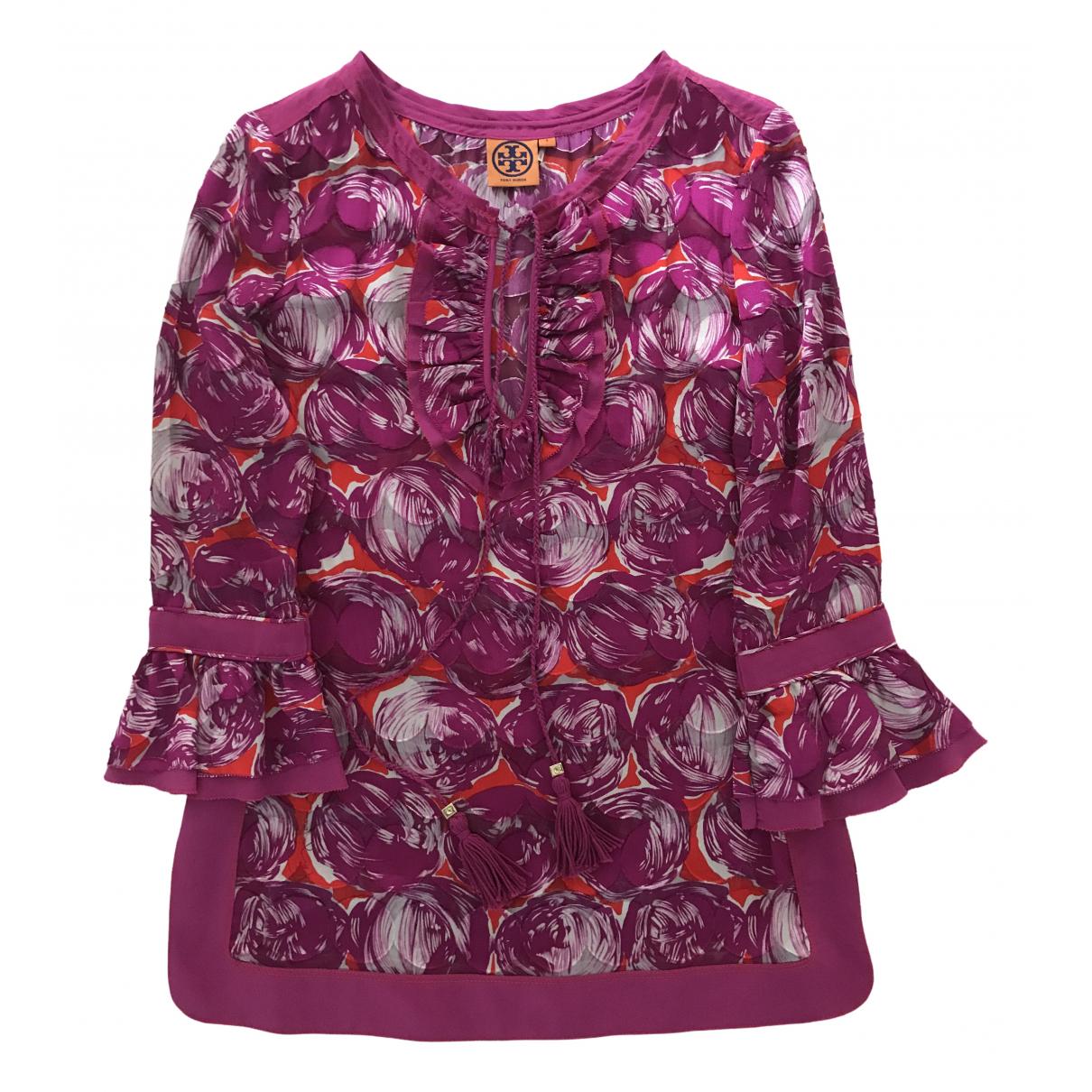 Tory Burch - Top   pour femme en soie - violet