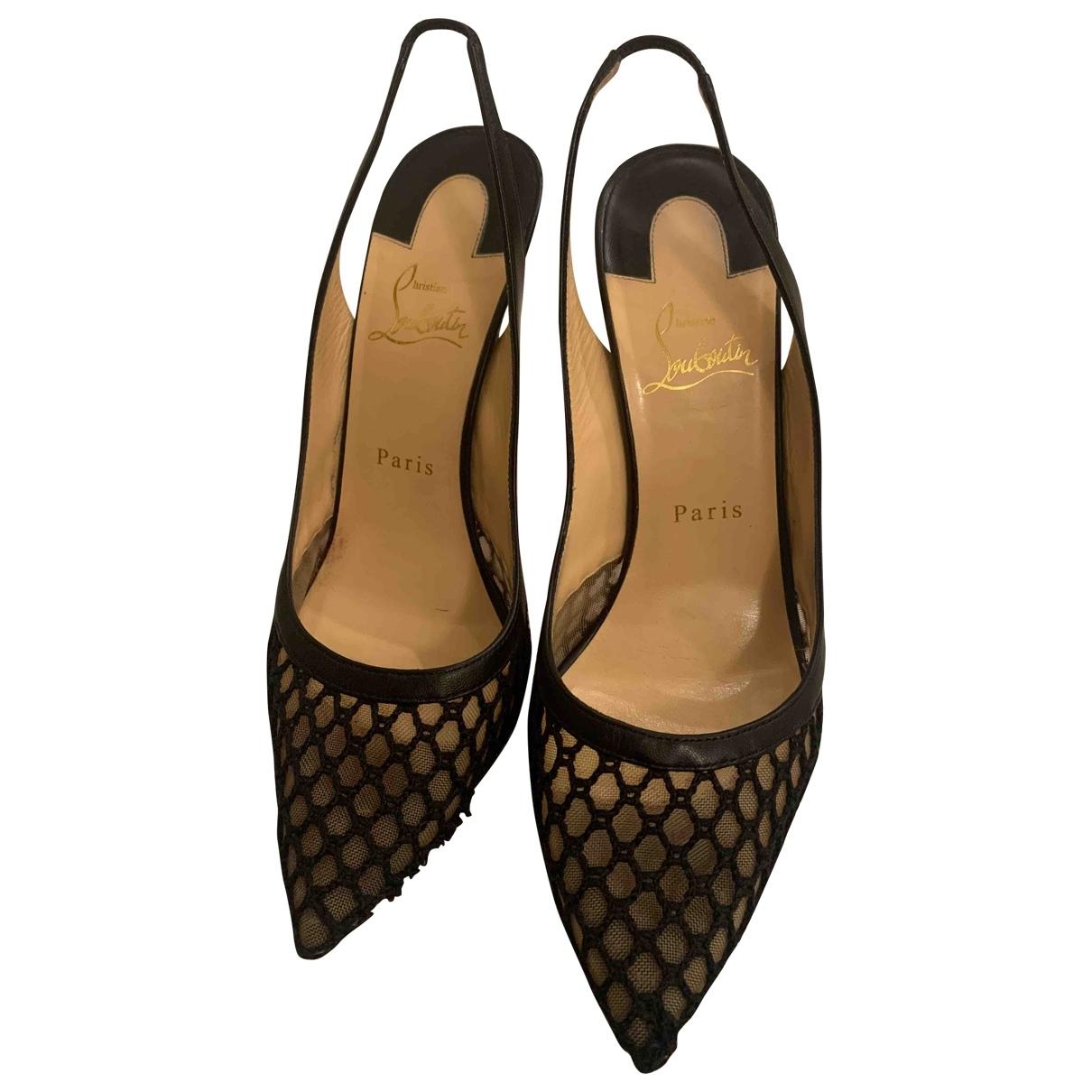 Christian Louboutin \N Black Cloth Heels for Women 39.5 EU