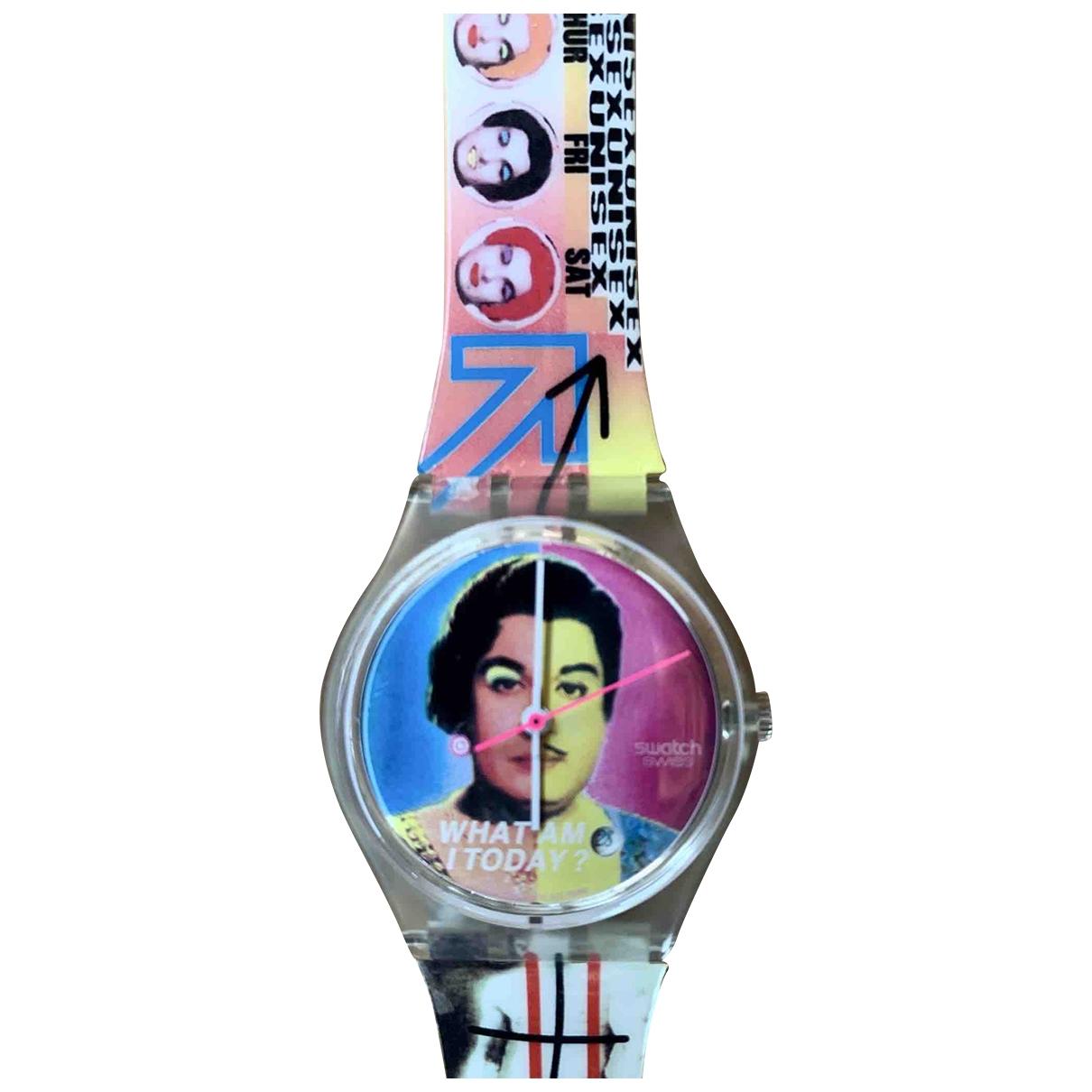 Swatch - Montre   pour femme en acier - multicolore