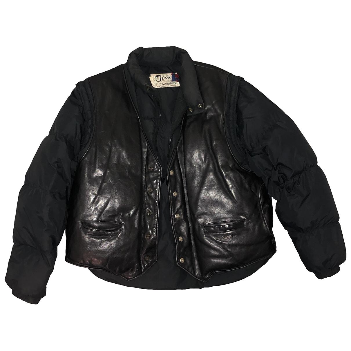 Schott \N Black Leather Leather jacket for Women M International