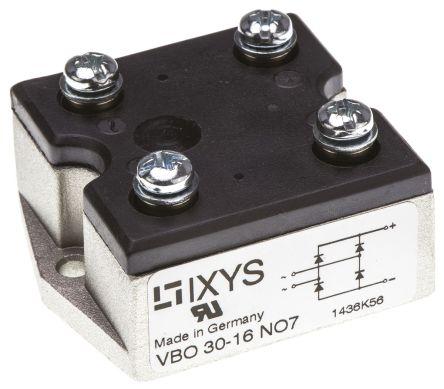 IXYS VBO30-16NO7, Bridge Rectifier Module, 35A 1600V, 4-Pin PWS A