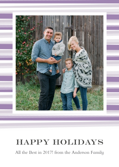 Holiday Photo Cards 5x7 Cards, Premium Cardstock 120lb, Card & Stationery -Blanket Border Happy Holidays