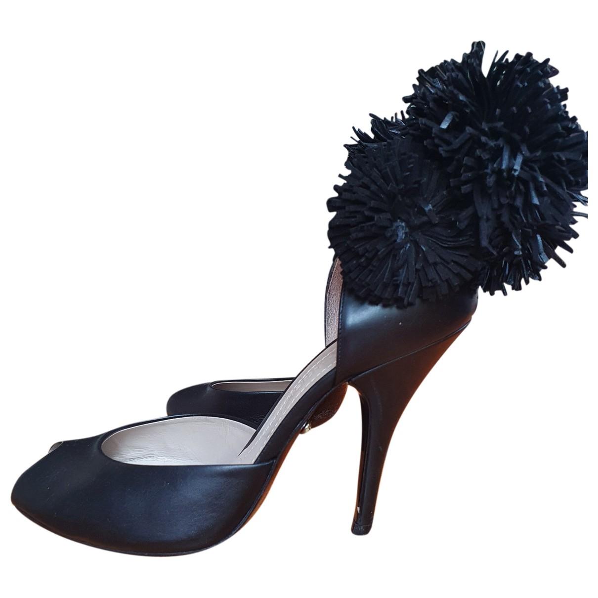 Sonia Rykiel \N Black Leather Heels for Women 37 EU