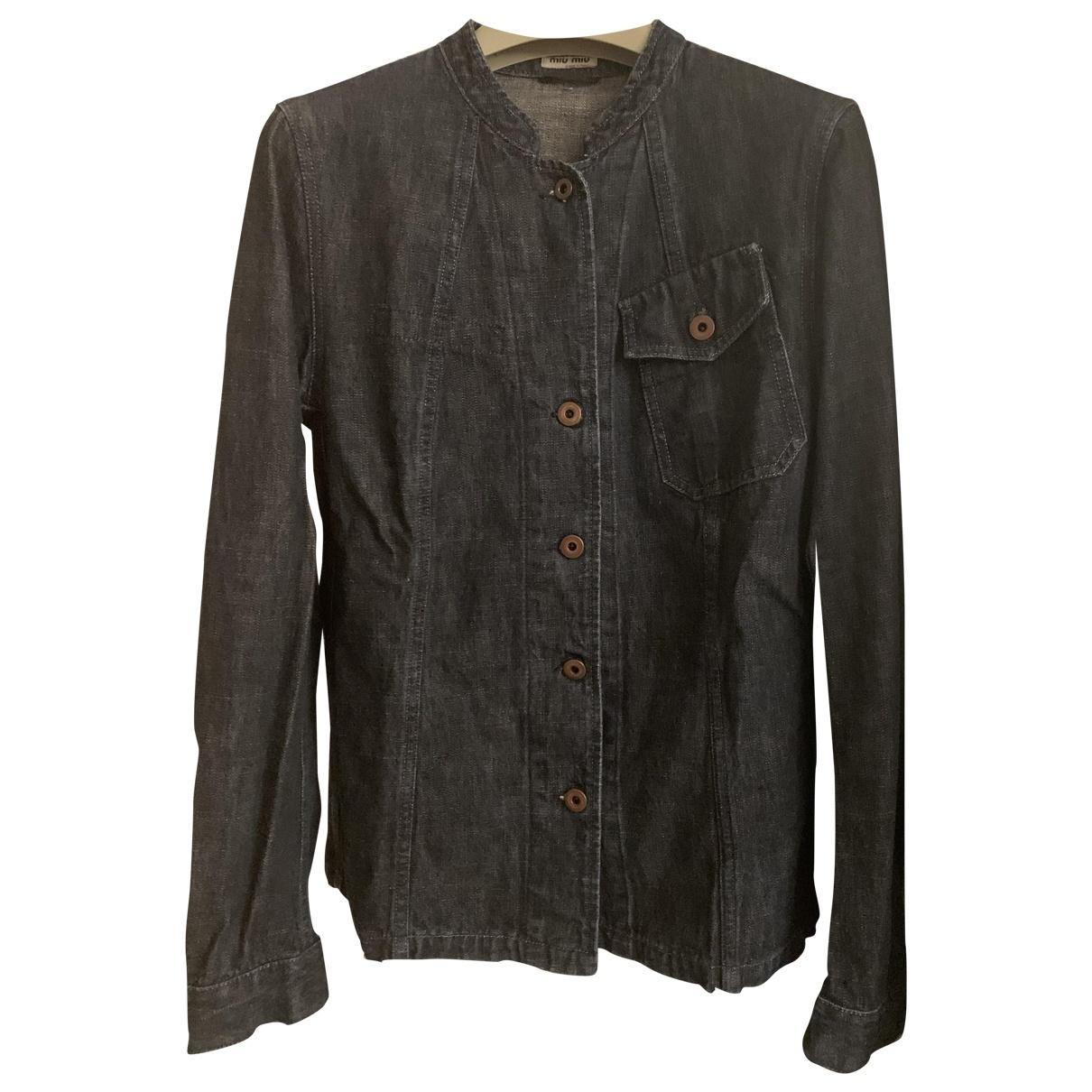 Miu Miu \N Blue Denim - Jeans jacket for Women 44 IT