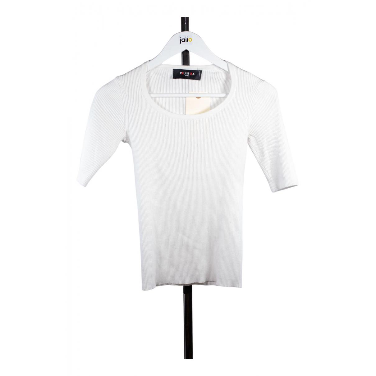 Paule Ka N White Cotton  top for Women 38 FR