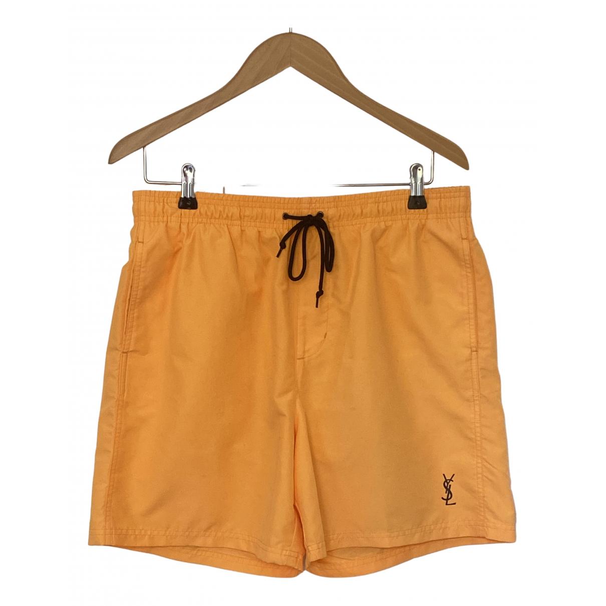 Yves Saint Laurent \N Badeanzug in  Orange Polyester