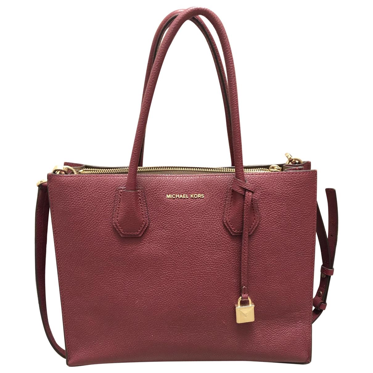Michael Kors Mercer Burgundy Leather handbag for Women \N