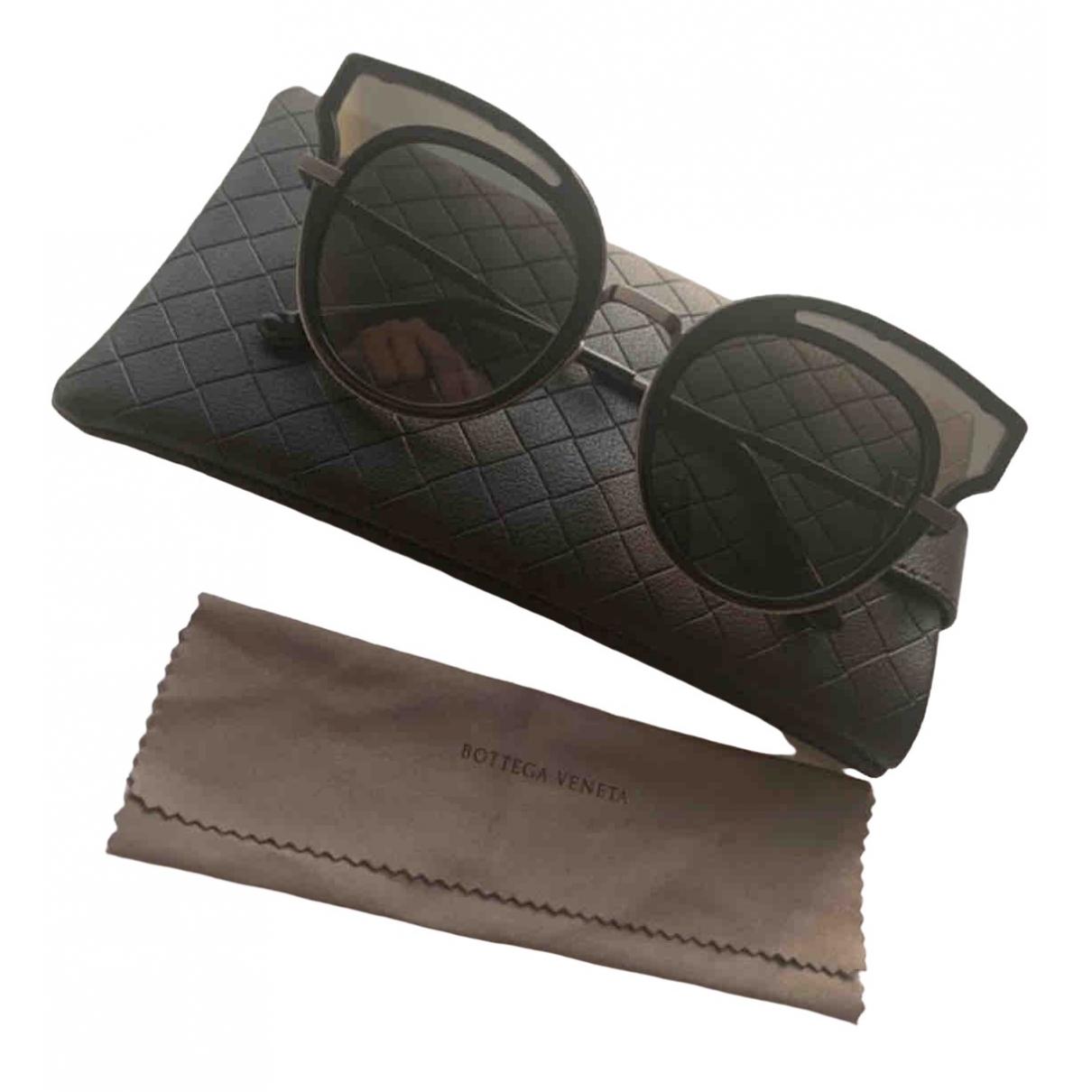 Bottega Veneta \N Black Metal Sunglasses for Women \N