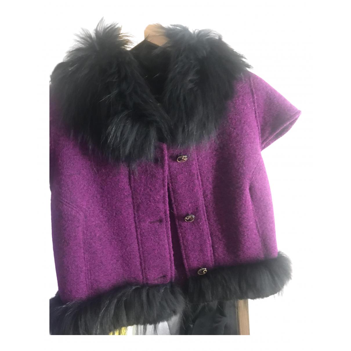 Class Cavalli N Purple Wool jacket for Women S International