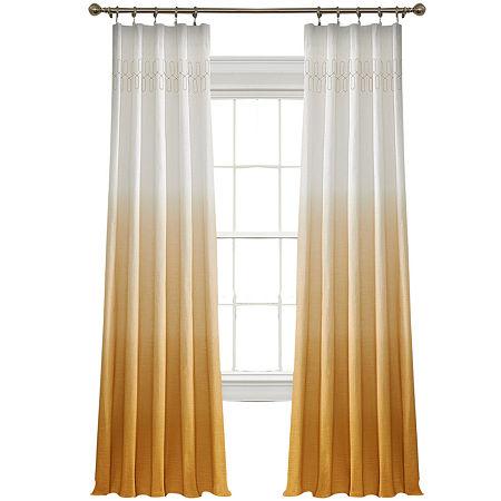 Vue Signature Arashi Fashion Rod-Pocket Curtain Panel, One Size , Yellow