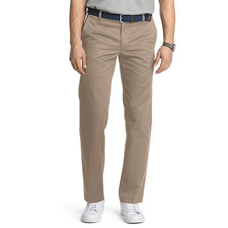 IZOD American Chino Mens Slim Fit, 34 34, Beige