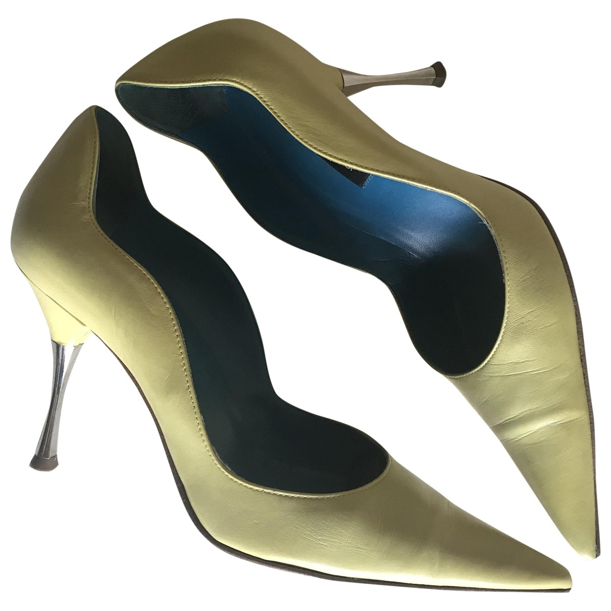 Sergio Rossi \N Leather Heels for Women 38 EU
