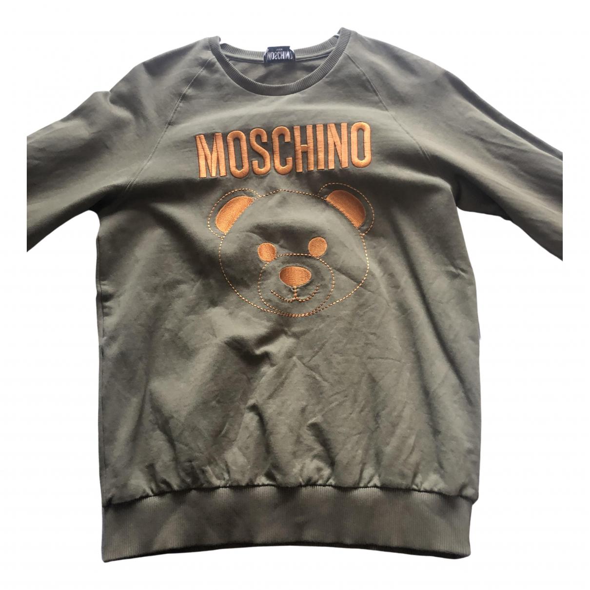 Moschino - Pulls.Gilets.Sweats   pour homme en coton - kaki