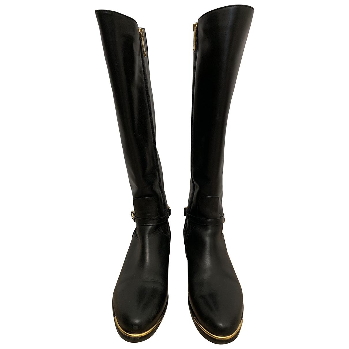 Baldinini \N Black Leather Boots for Women 38 EU