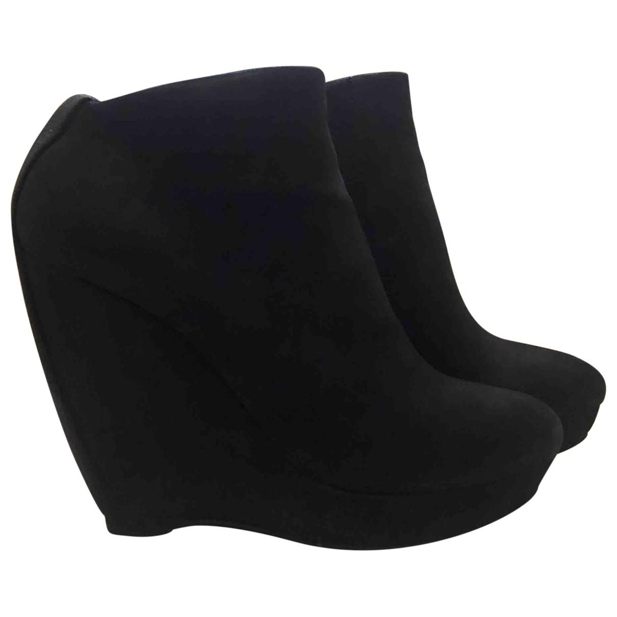 Balenciaga - Boots   pour femme en suede - anthracite