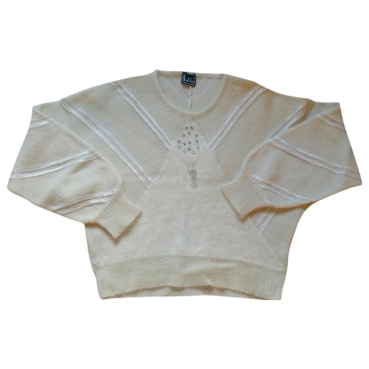 - Pull   pour femme en laine - blanc