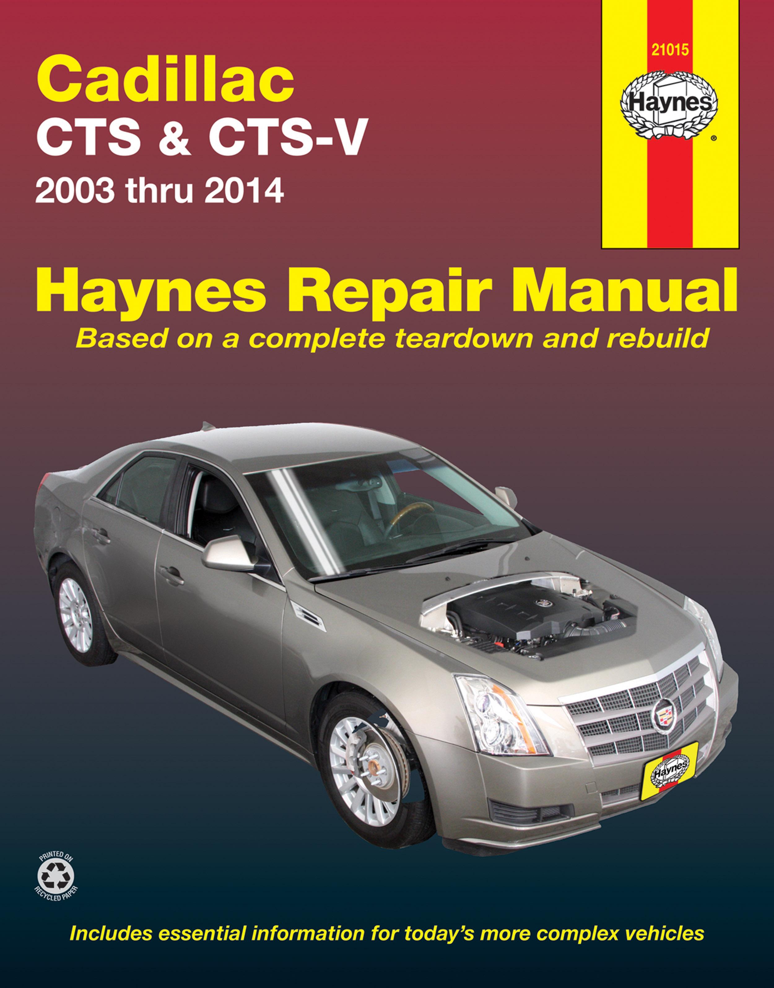 Cadillac CTS and CTS-V (03-14) Haynes Repair Manual