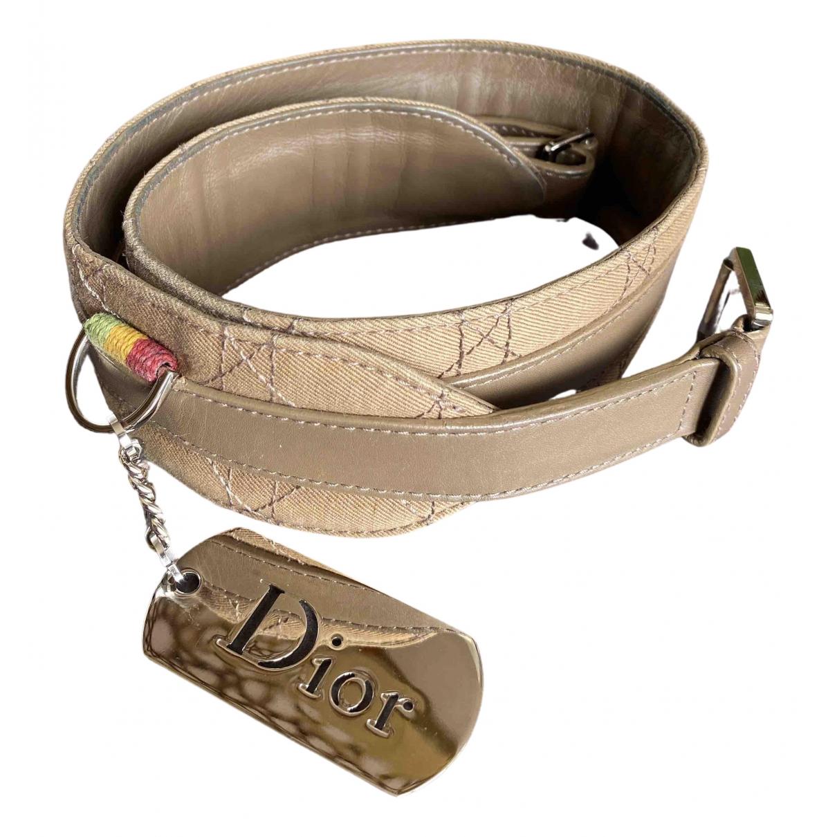 Dior \N Guertel in  Beige Leder