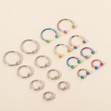 16pcs Simple Nose Ring