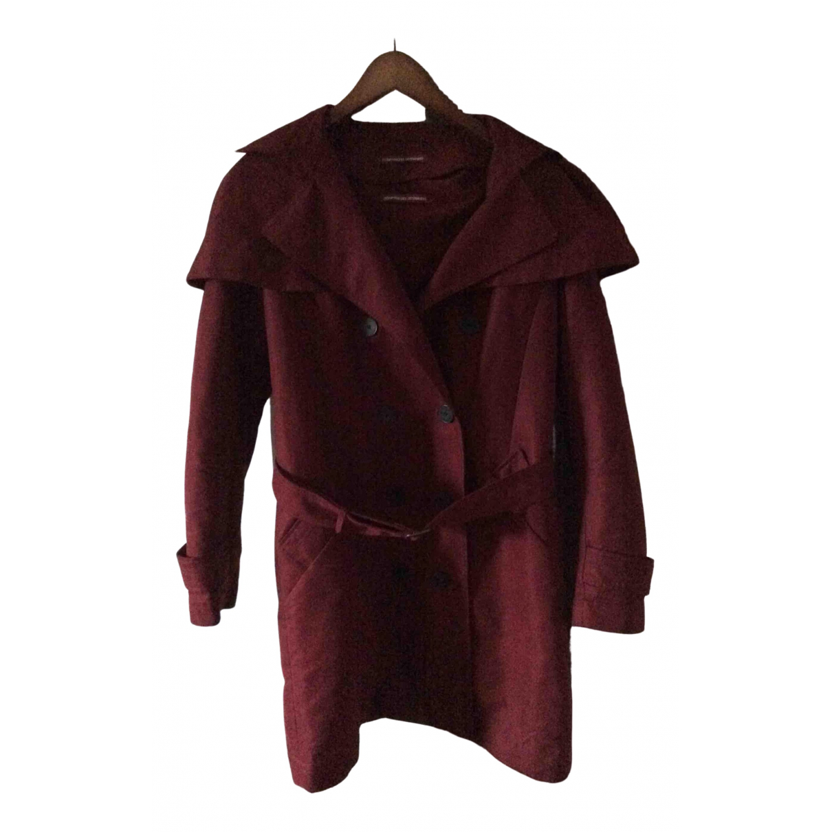 Comptoir Des Cotonniers \N Burgundy Cotton Trench coat for Women 40 FR