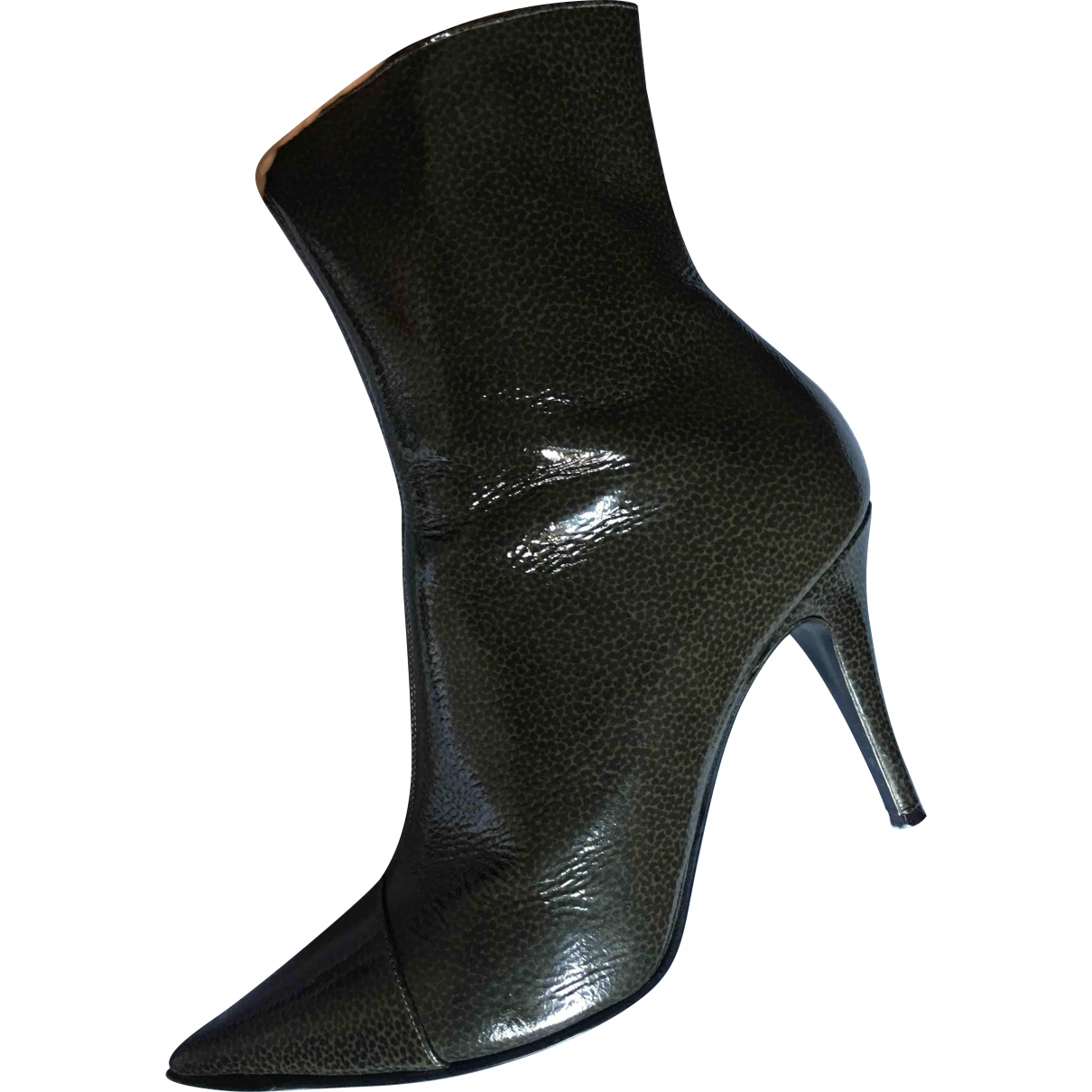 Bruno Magli \N Green Patent leather Ankle boots for Women 39 EU