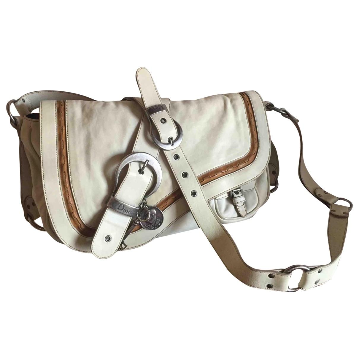 Dior Gaucho Ecru Leather handbag for Women \N