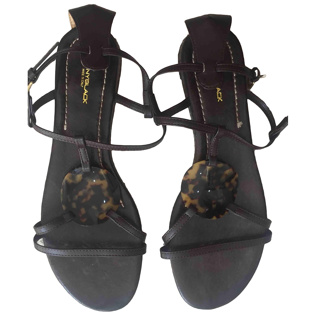 Non Signé / Unsigned \N Brown Leather Sandals for Women 39.5 EU