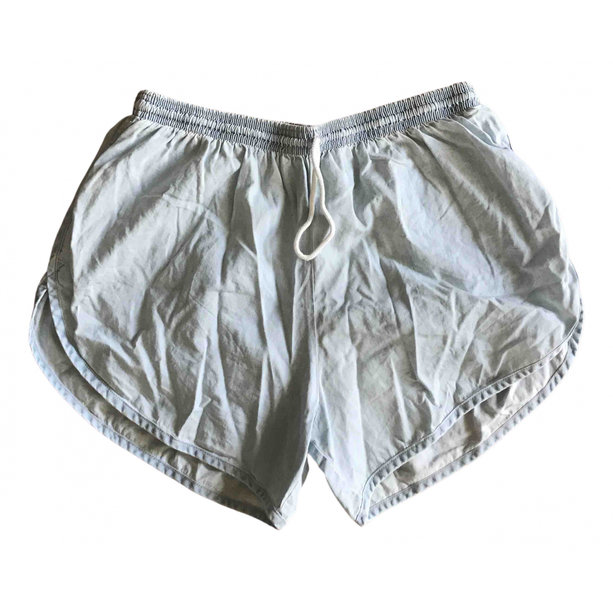 American Apparel \N Shorts in  Blau Baumwolle