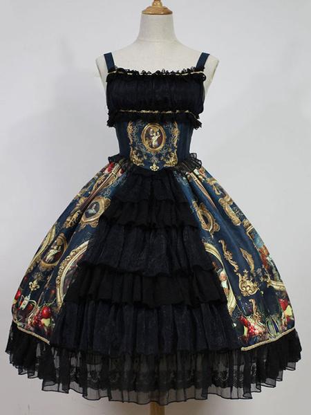 Milanoo Classic Lolita Jsk Jumper Skirt Night Museum Jsk Original Design