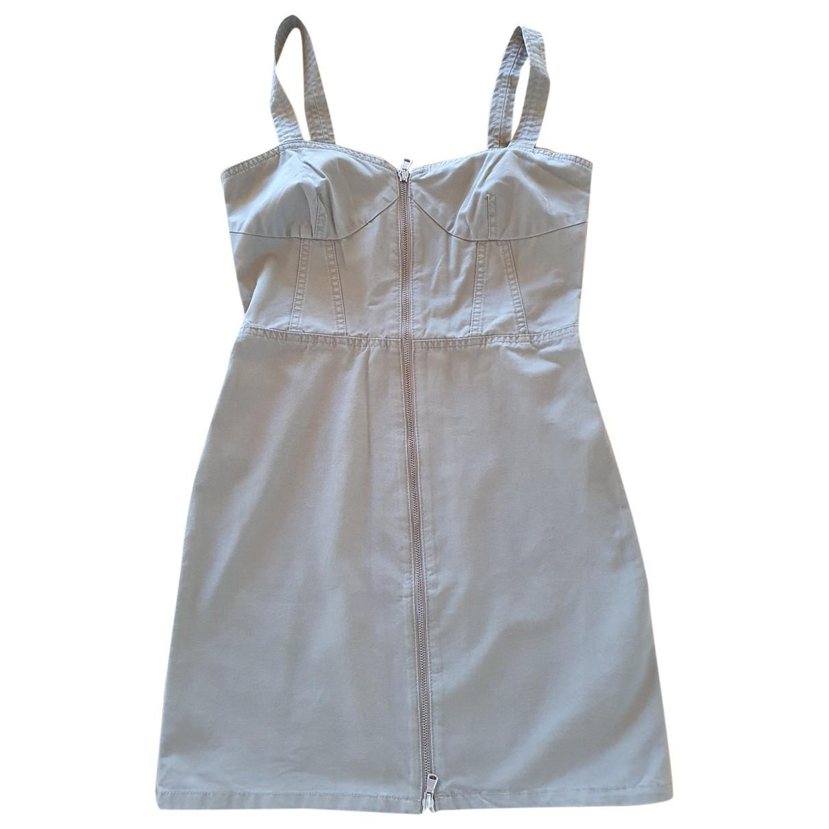 Marc By Marc Jacobs \N Kleid in  Khaki Baumwolle