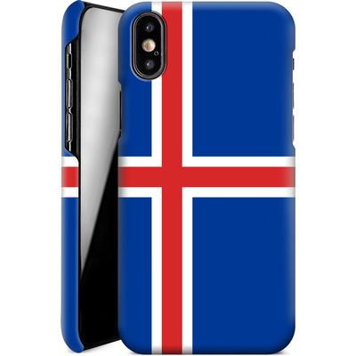 Apple iPhone XS Smartphone Huelle - Iceland Flag von caseable Designs