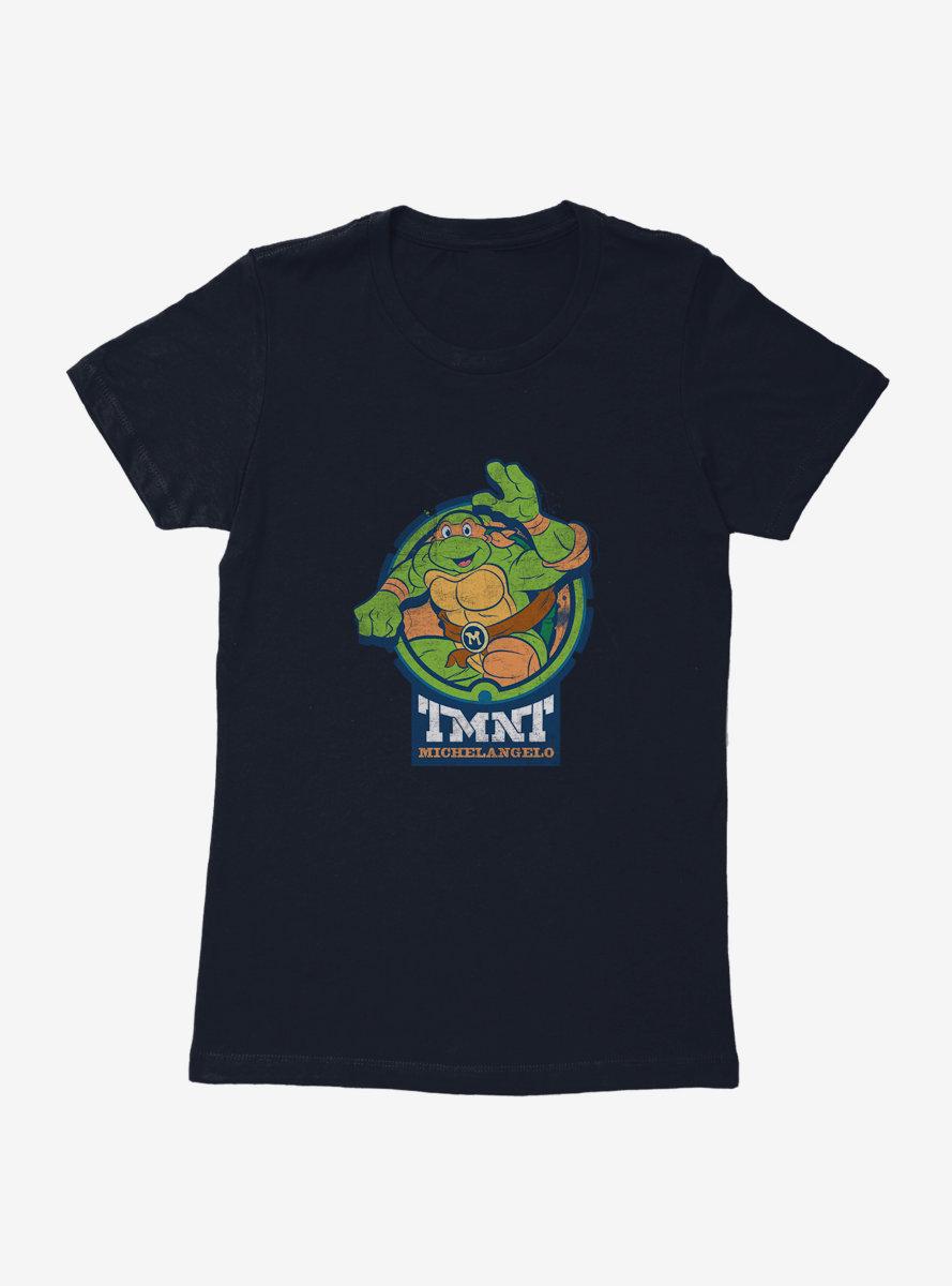 Teenage Mutant Ninja Turtles Michelangelo Badge Womens T-Shirt