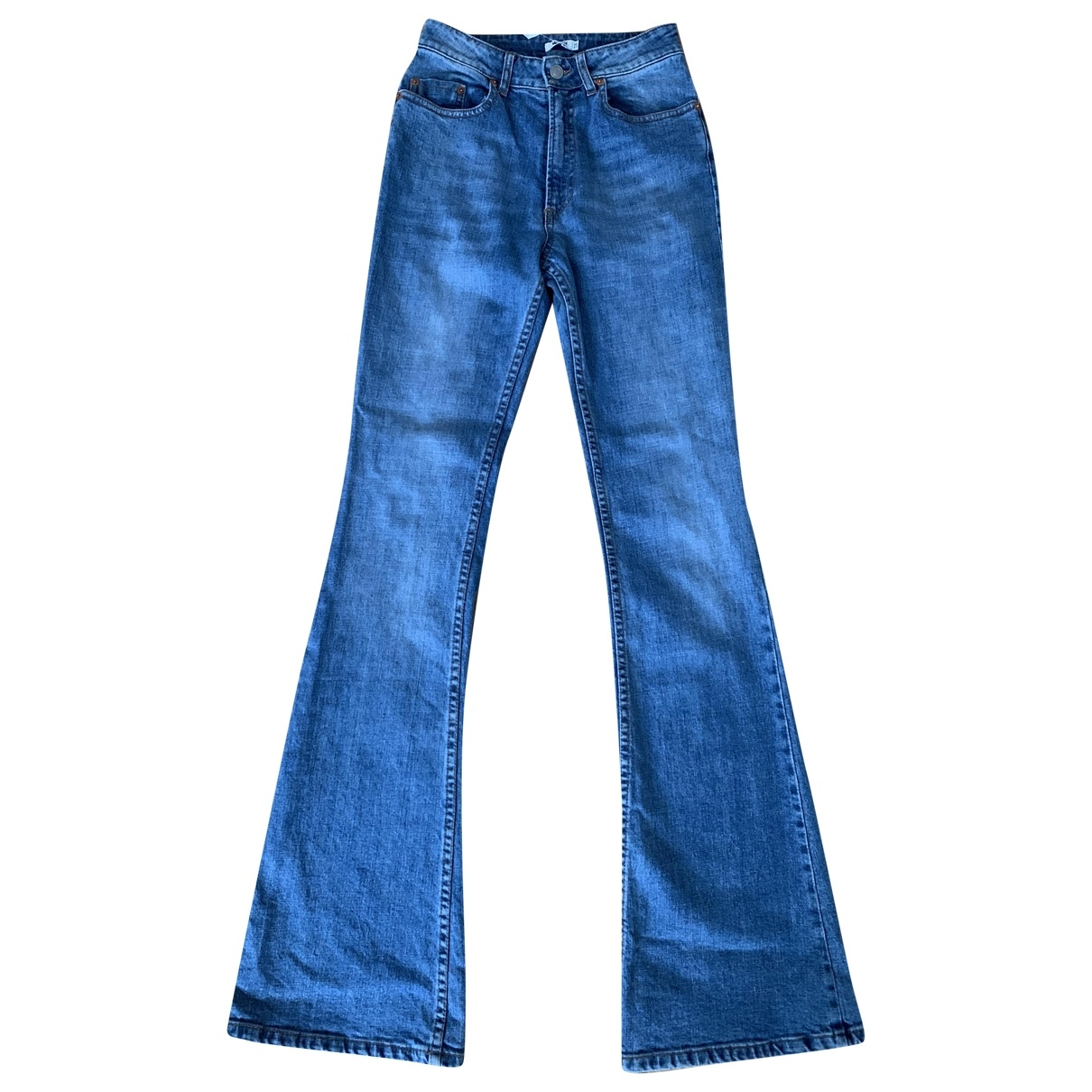 Non Signé / Unsigned \N Blue Cotton - elasthane Jeans for Women 25 US