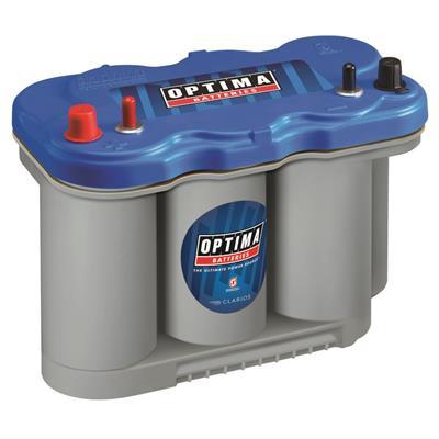 Optima Batteries Blue Top Marine Battery, Group D27M, 800 CCA, Top Post - 8027-127