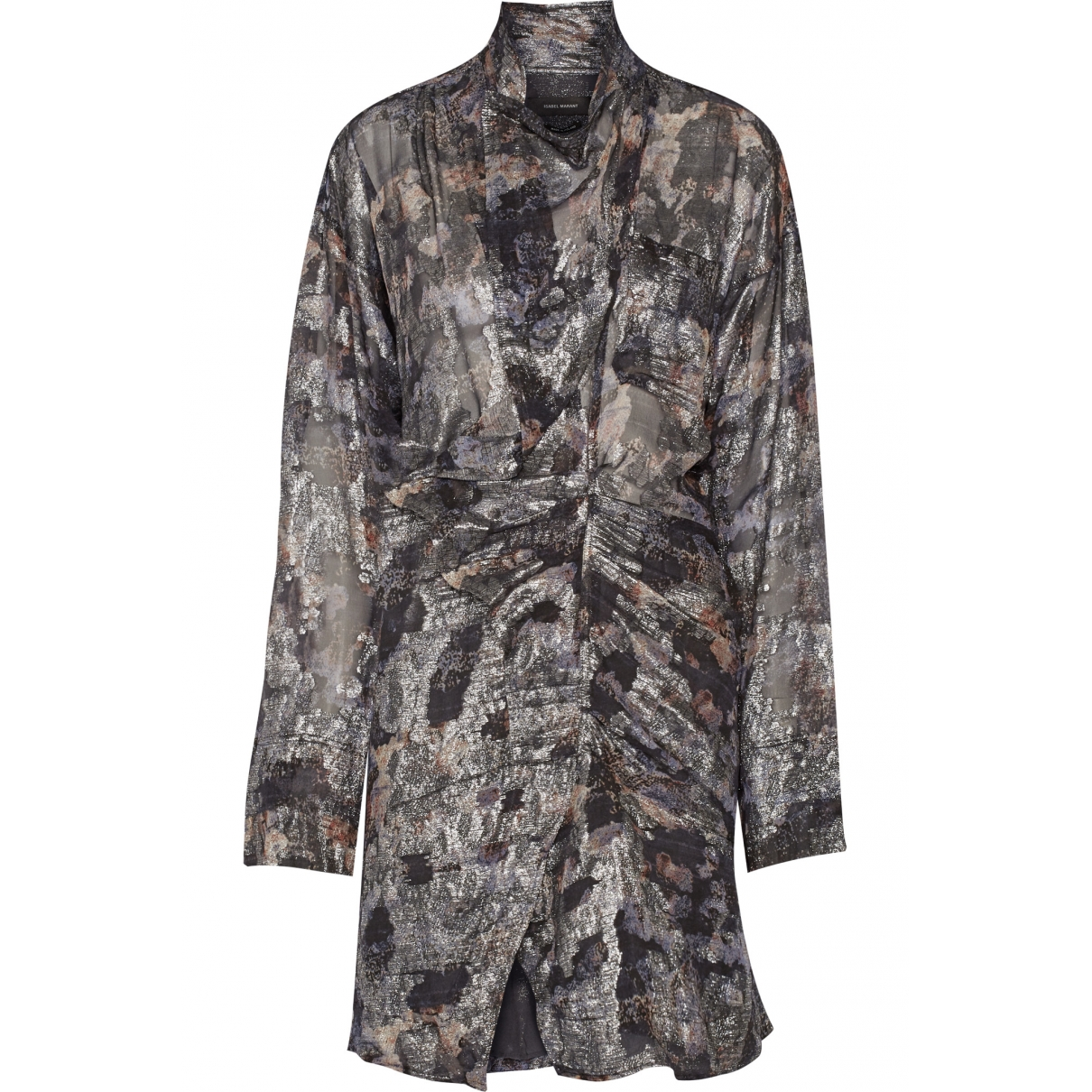 Isabel Marant \N Metallic Silk dress for Women 36 FR