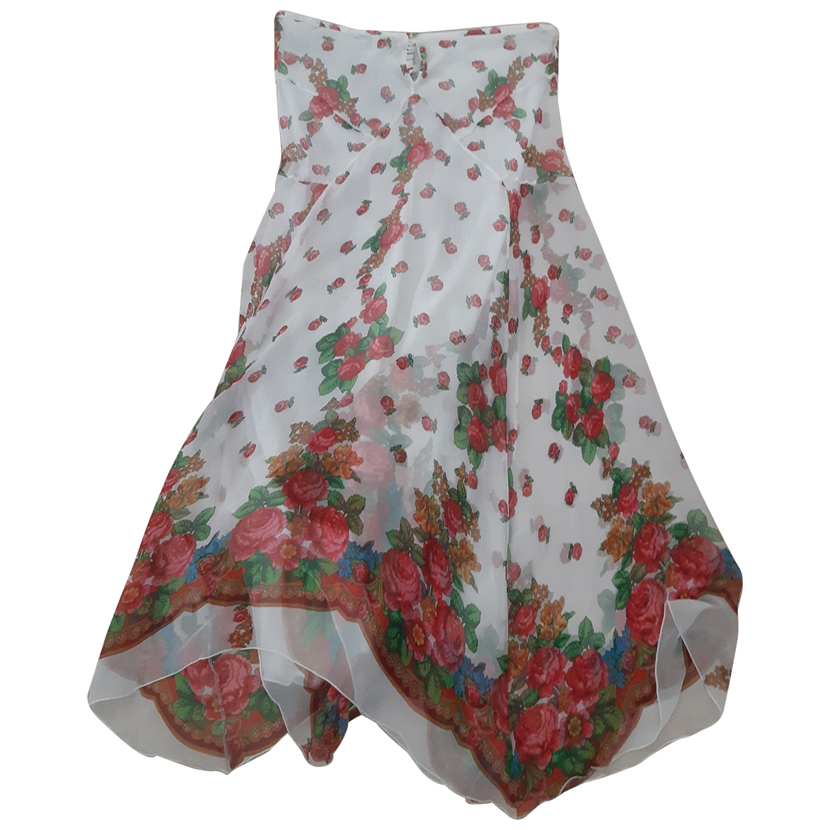 Blumarine \N Kleid in  Weiss Seide