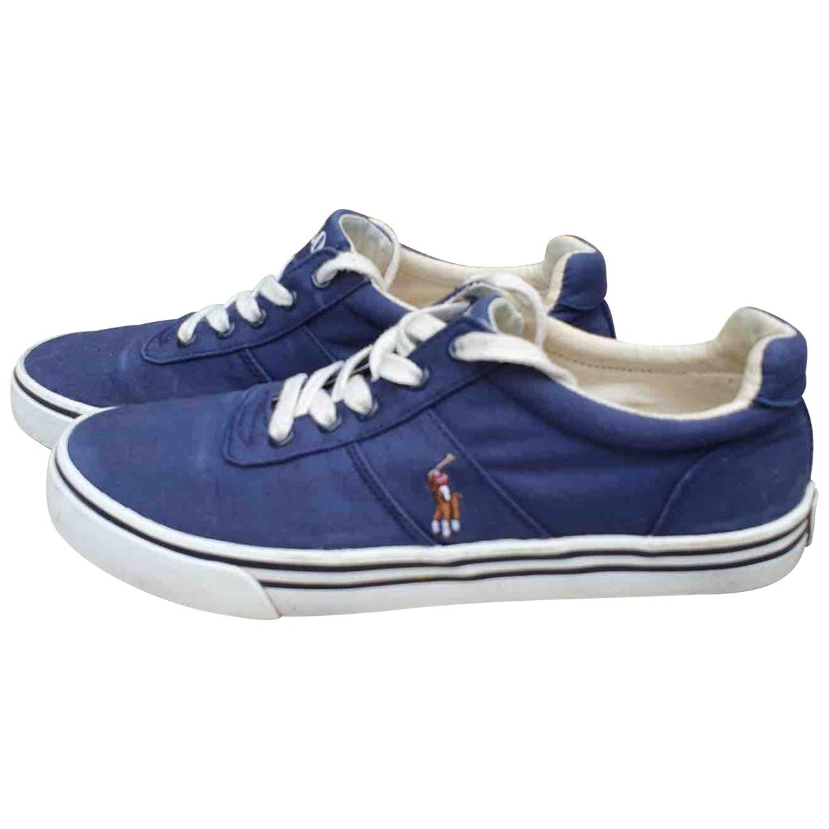 Polo Ralph Lauren - Baskets   pour femme en toile - bleu