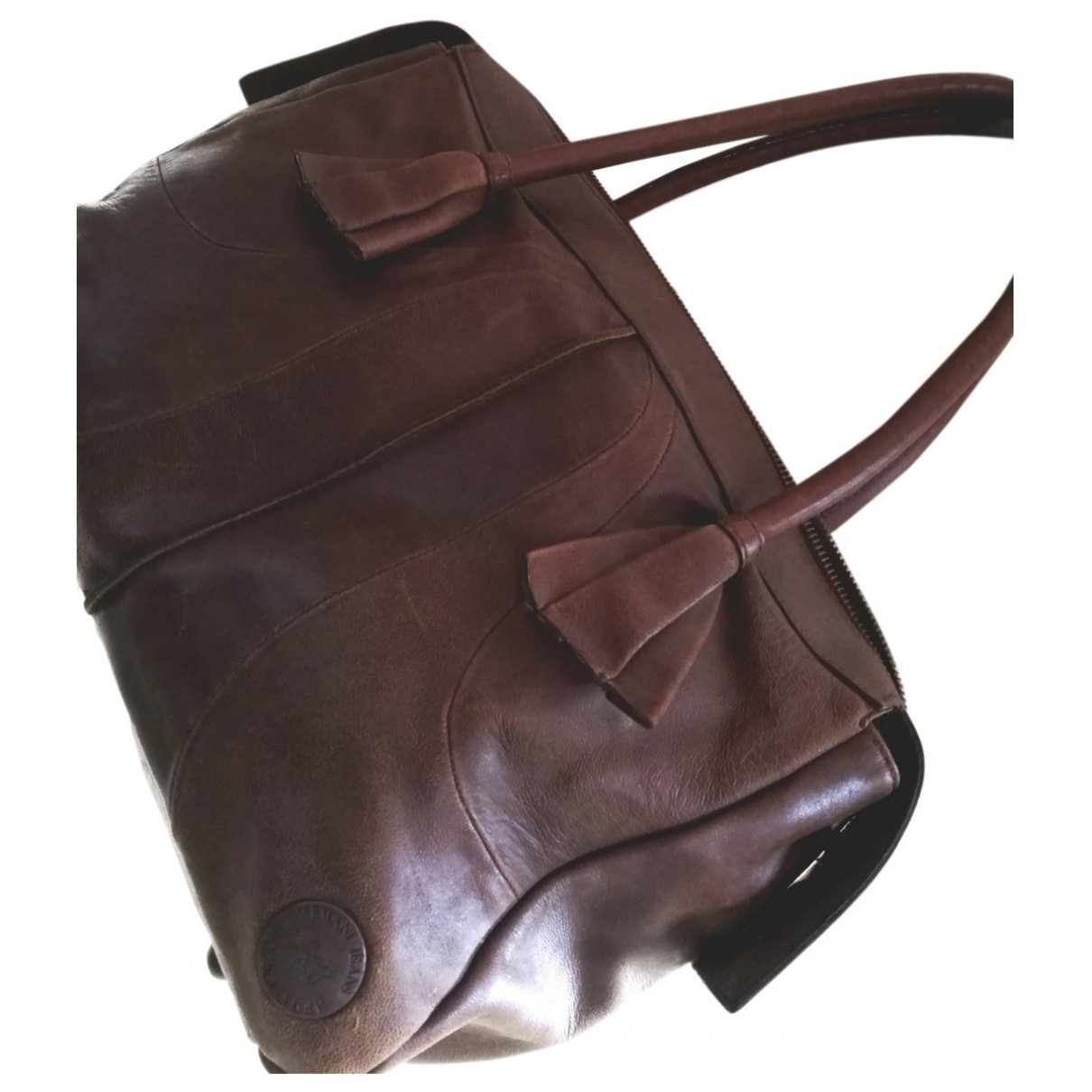 Armani Jeans \N Handtasche in  Braun Leder