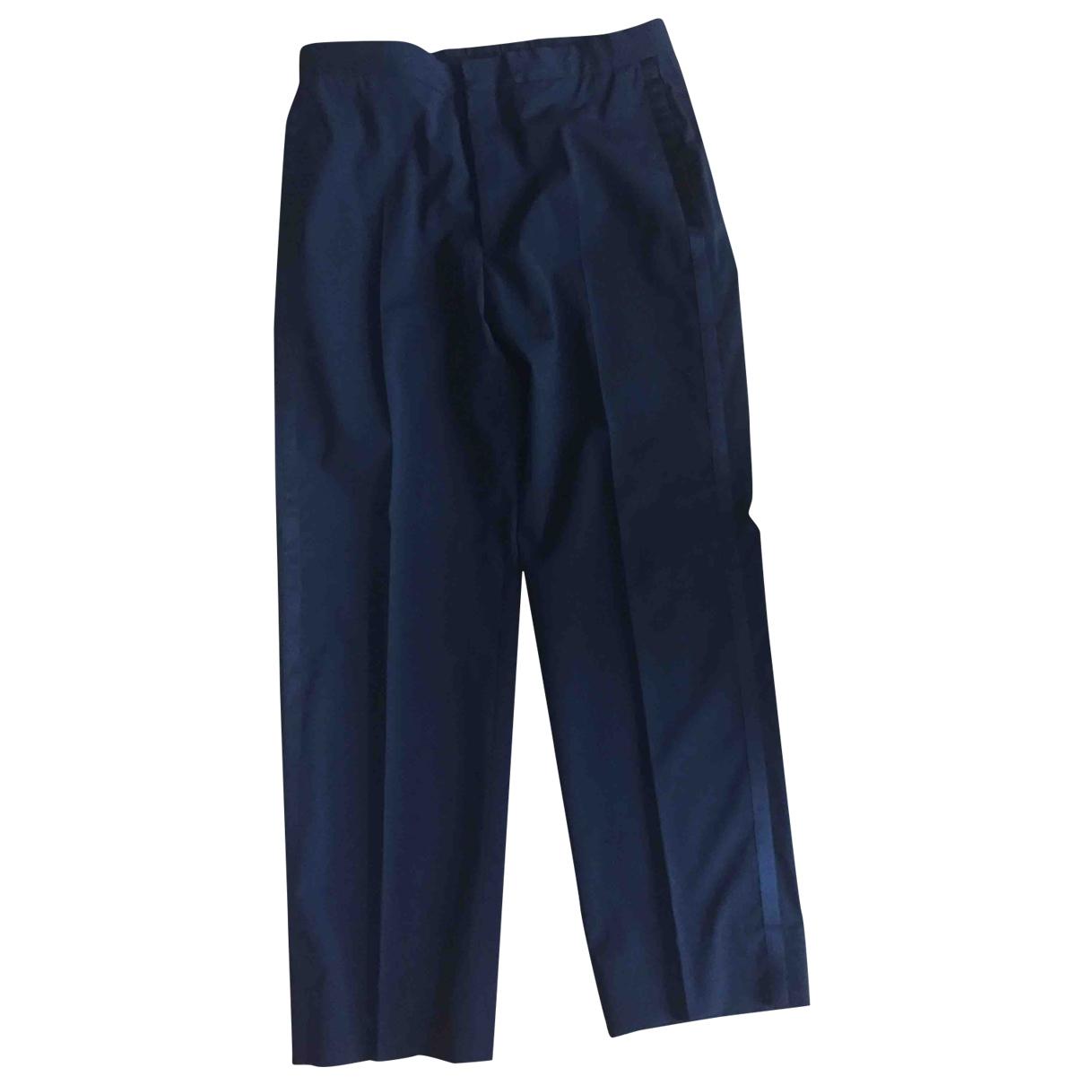 Hermes - Pantalon   pour homme en laine - noir